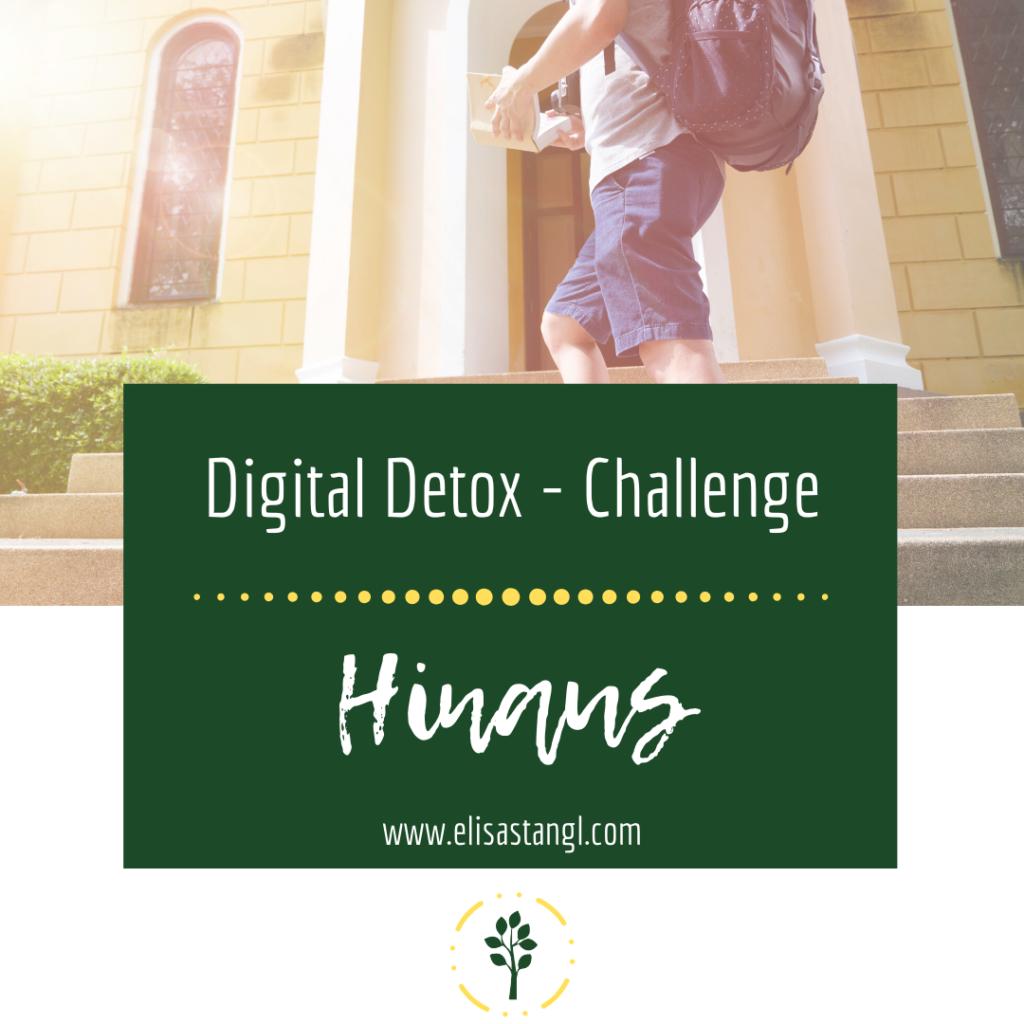 Digital Detox Challenge - Hinaus (Medienkonsum bei Kindern)