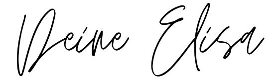 Unterschrift - Deine Elisa