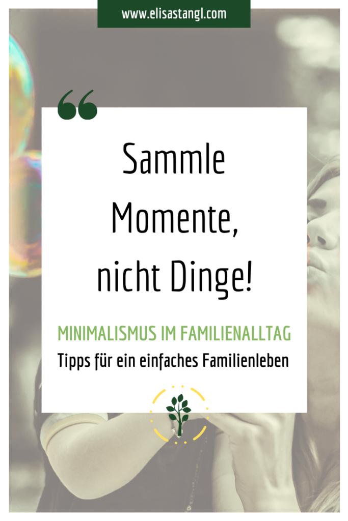 Minimalismus im Familienalltag