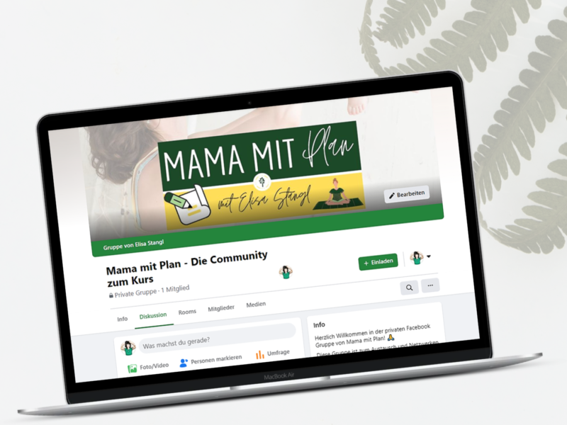 Mama mit Plan Facebook Gruppe